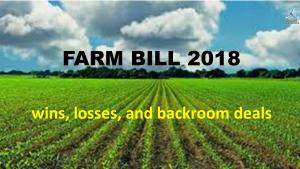 An analysis of the american farm bill